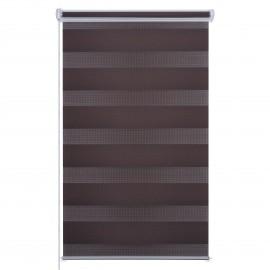 Sávroló ajtóra, Easy Fix, barna (árnyékoló roló)
