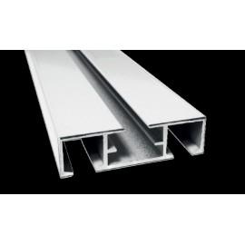 Alumínium mennyezeti sín, 2 soros, tartozékcsomaggal, FEHÉR